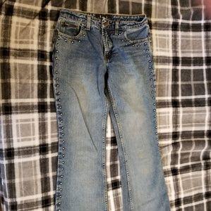L.e.i. Vintage Studded Flare Jeans